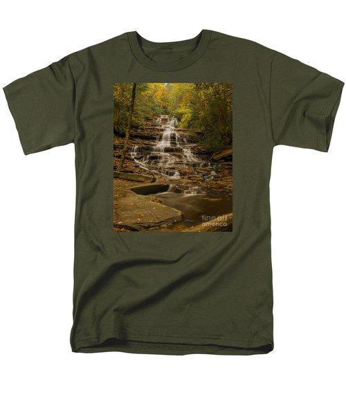 Men's T-Shirt  (Regular Fit) featuring the photograph Fall Colors At Minnehaha Falls by Barbara Bowen