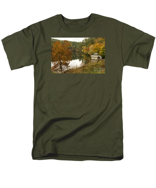 Men's T-Shirt  (Regular Fit) featuring the photograph Fall Fishing by Barbara Bowen