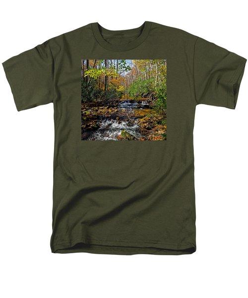 Fall In Cataloochee Men's T-Shirt  (Regular Fit) by Paul Mashburn