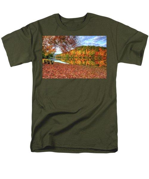 Men's T-Shirt  (Regular Fit) featuring the digital art Fall In Murphy, North Carolina by Sharon Batdorf