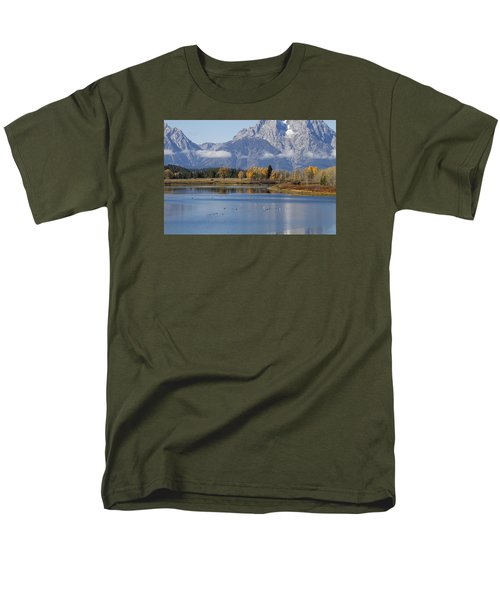Men's T-Shirt  (Regular Fit) featuring the photograph Fall Inteton -3 by Shirley Mitchell