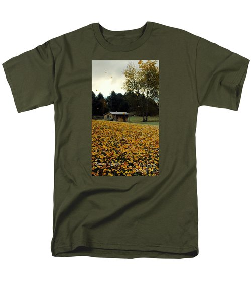 Men's T-Shirt  (Regular Fit) featuring the photograph Fall Leaves - No. 2015 by Joe Finney