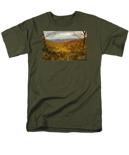 Men's T-Shirt  (Regular Fit) featuring the photograph Fall Mountain Overlook by Barbara Bowen