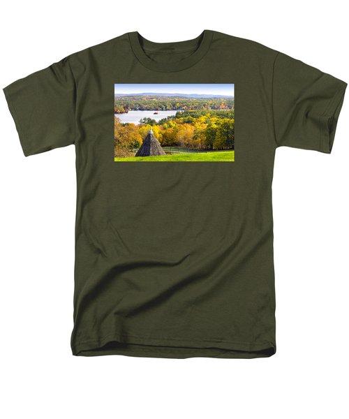 Fall On Lake Winnipesaukee At Center Harbor Men's T-Shirt  (Regular Fit) by Betty Denise