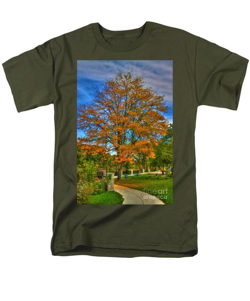 Fall On The Walk Men's T-Shirt  (Regular Fit) by Robert Pearson