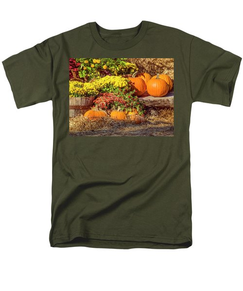 Men's T-Shirt  (Regular Fit) featuring the photograph Fall Pumpkins by Carolyn Marshall