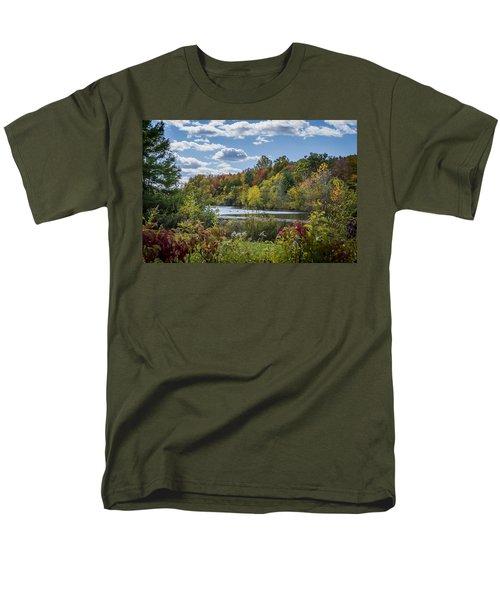 Fall Time On The Lake Men's T-Shirt  (Regular Fit)