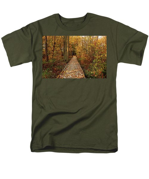 Fall Walk Men's T-Shirt  (Regular Fit) by Debbie Oppermann