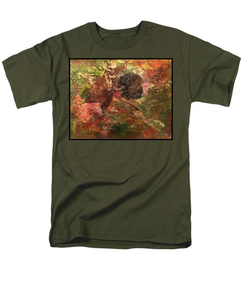 Men's T-Shirt  (Regular Fit) featuring the mixed media Falling In Love  by Delona Seserman