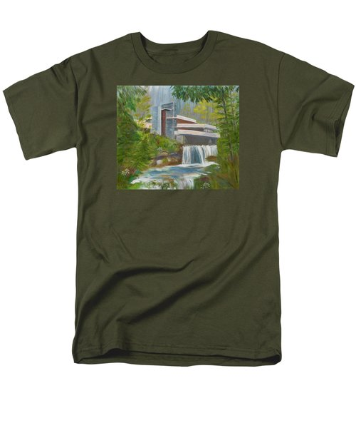 Men's T-Shirt  (Regular Fit) featuring the painting Falling Water by Jamie Frier