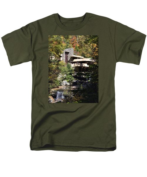 Fallingwater By Frank Lloyd Wright Men's T-Shirt  (Regular Fit) by Brendan Reals
