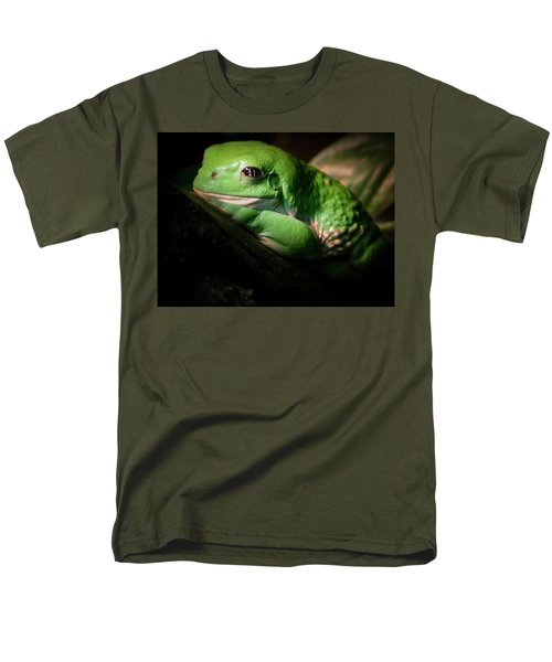 Fantastic Green Frog Men's T-Shirt  (Regular Fit) by Jean Noren