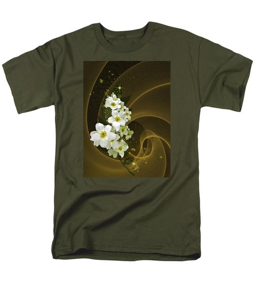 Men's T-Shirt  (Regular Fit) featuring the photograph Fantasy In Gold And White by Judy  Johnson