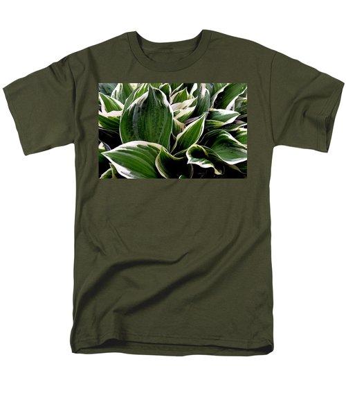Fantasy In White And Green Men's T-Shirt  (Regular Fit)