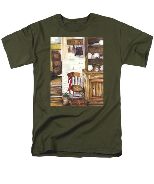 Men's T-Shirt  (Regular Fit) featuring the painting Farm House by Darren Cannell