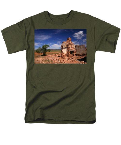 Farmhouse Cottage Ruin Flinders Ranges South Australia Men's T-Shirt  (Regular Fit) by Ralph A  Ledergerber-Photography