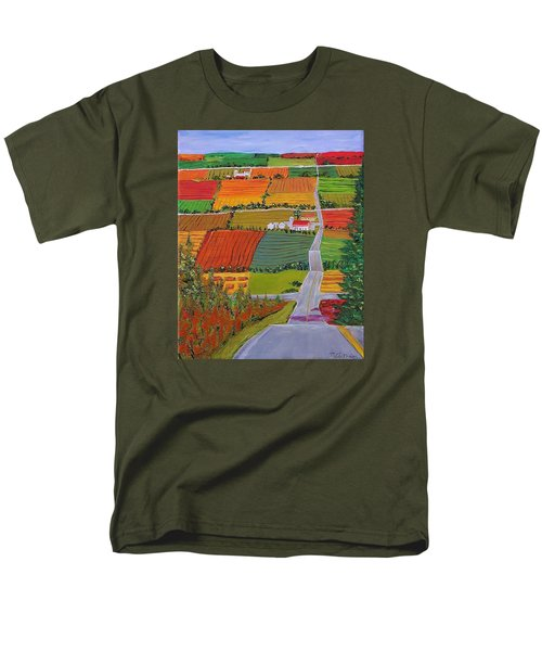 Country Farmland Quilt Men's T-Shirt  (Regular Fit) by Mike Caitham