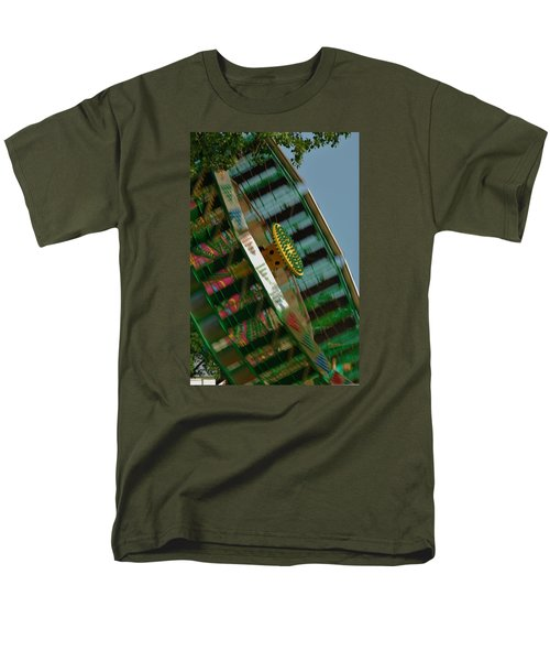Men's T-Shirt  (Regular Fit) featuring the photograph Faster And Faster We Go by Ramona Whiteaker