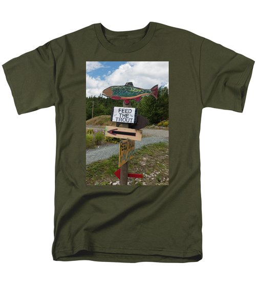 Men's T-Shirt  (Regular Fit) featuring the photograph Feed The Trout by Suzanne Gaff