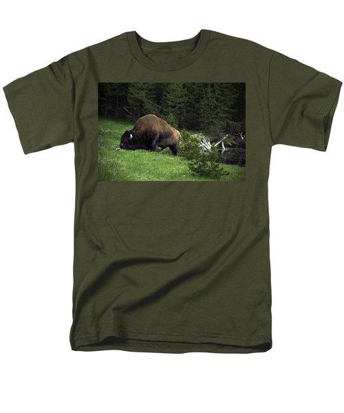 Men's T-Shirt  (Regular Fit) featuring the photograph Feeding Buffalo by Jason Moynihan