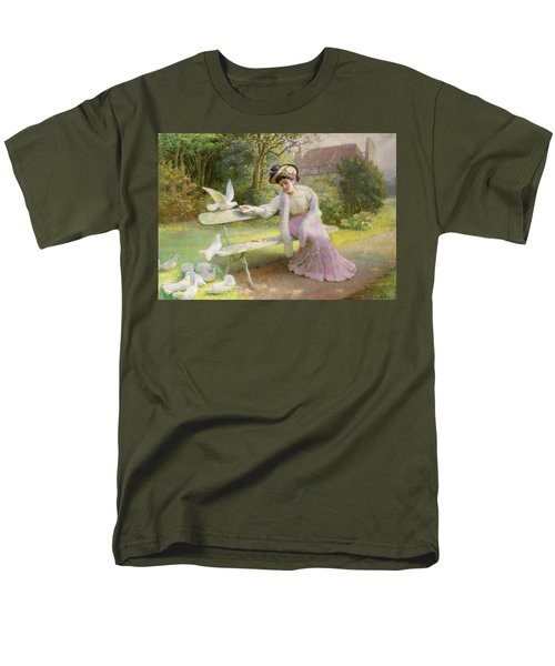 Feeding The Doves  Men's T-Shirt  (Regular Fit) by Edmond Alphonse Defonte
