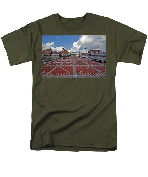 Men's T-Shirt  (Regular Fit) featuring the photograph Fells Point Pier by Suzanne Stout