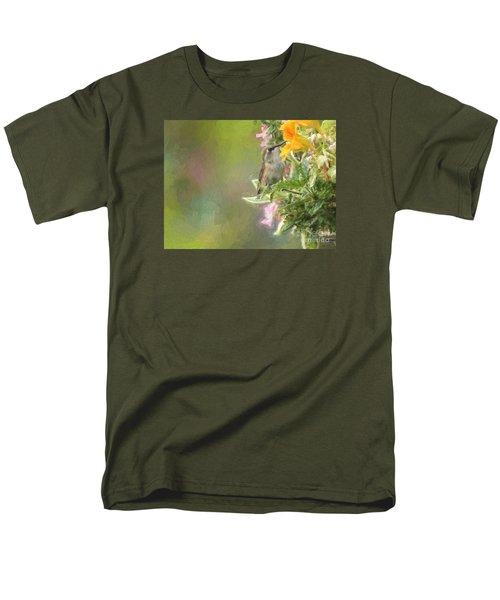 Female Rufous Hummingbird Men's T-Shirt  (Regular Fit) by Suzanne Handel