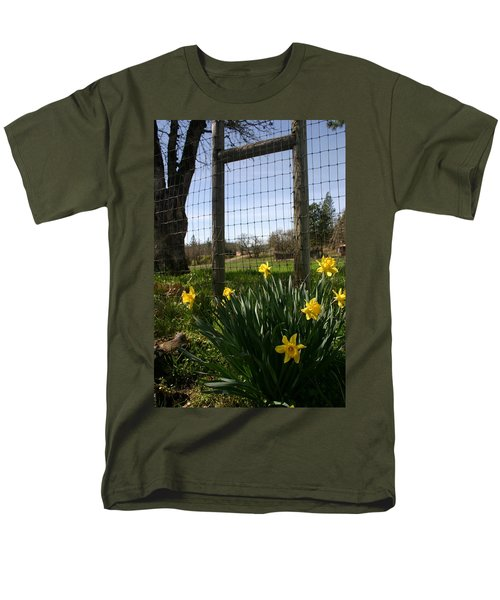 Men's T-Shirt  (Regular Fit) featuring the photograph Fence With A View by Marie Neder
