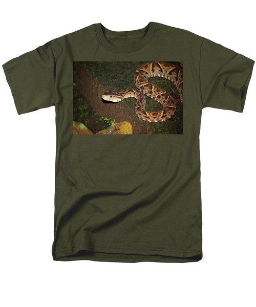 Men's T-Shirt  (Regular Fit) featuring the photograph Fer-de-lance, Botherops Asper by Breck Bartholomew