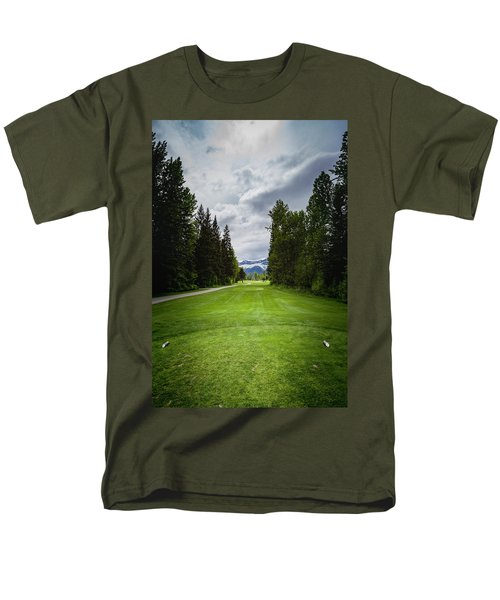 Men's T-Shirt  (Regular Fit) featuring the photograph Fernie Tee Box by Darcy Michaelchuk