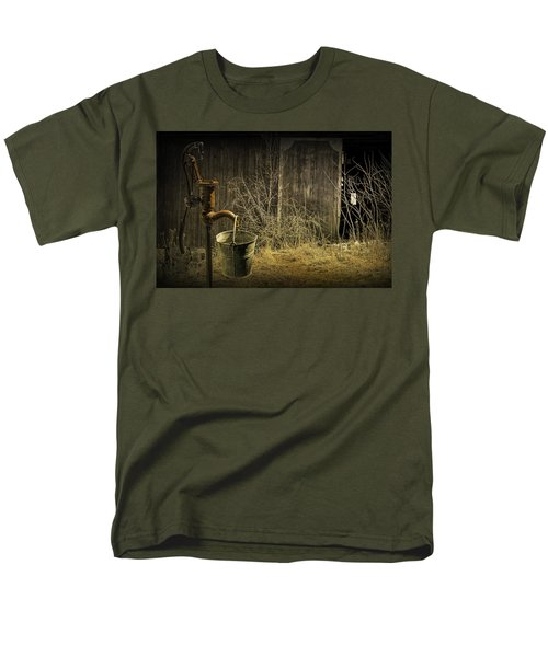 Fetching Water From The Old Pump Men's T-Shirt  (Regular Fit) by Randall Nyhof