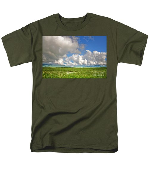 Men's T-Shirt  (Regular Fit) featuring the photograph Field by Charuhas Images
