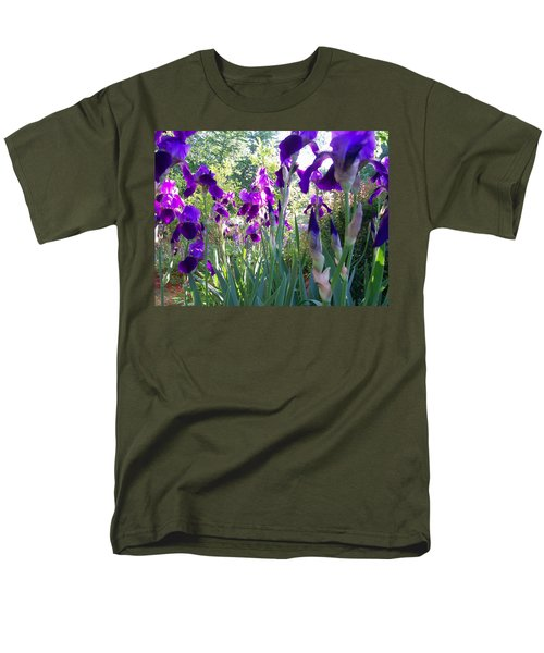Men's T-Shirt  (Regular Fit) featuring the digital art Field Of Irises by Barbara S Nickerson