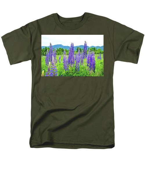Men's T-Shirt  (Regular Fit) featuring the photograph Field Of Purple by Greg Fortier