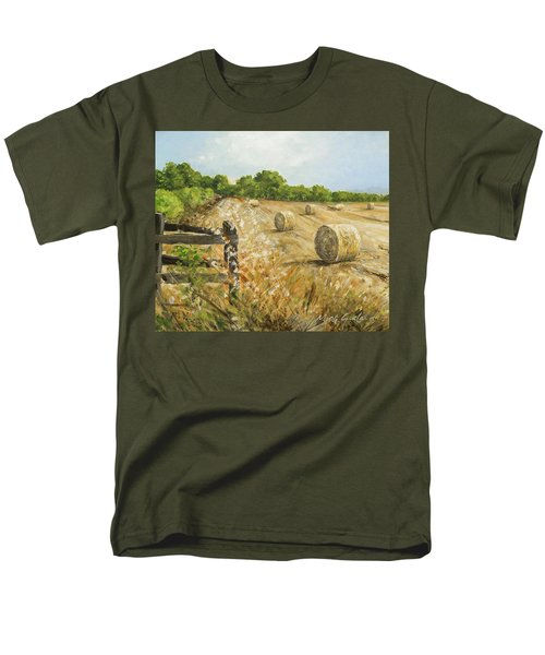 Fields Of Hay Men's T-Shirt  (Regular Fit) by Marty Garland