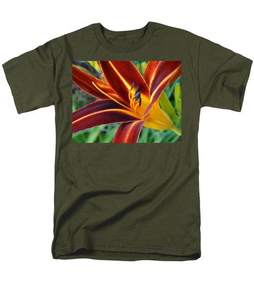 Fiery Lilies In Bloom Men's T-Shirt  (Regular Fit) by Rebecca Overton