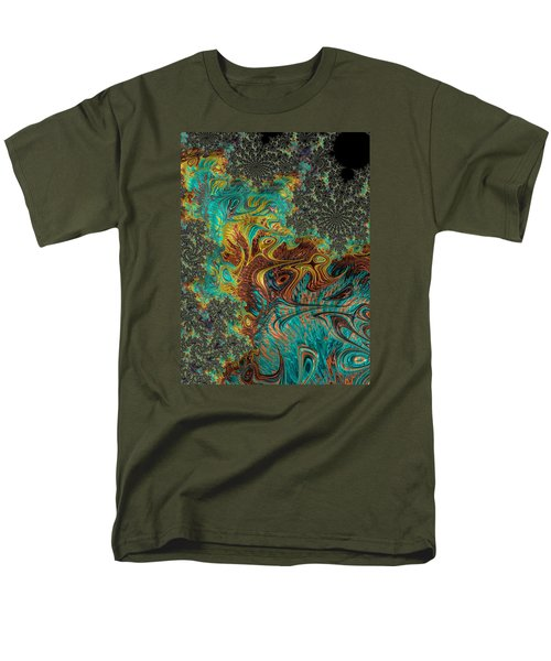 Men's T-Shirt  (Regular Fit) featuring the photograph Fire And Ice by Ronda Broatch