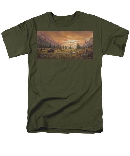 Men's T-Shirt  (Regular Fit) featuring the painting Fire In The Sky by Kim Lockman