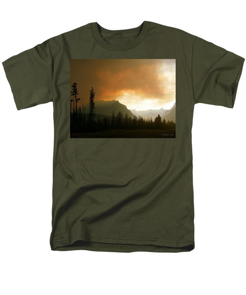 Fire Over St Mary Men's T-Shirt  (Regular Fit)