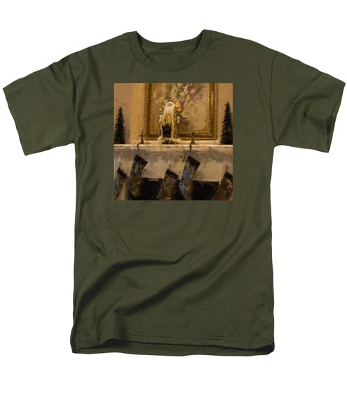 Fireplace At Christmas Men's T-Shirt  (Regular Fit) by Cathy Jourdan