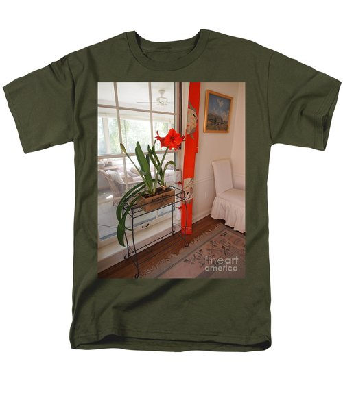 First There Was Red Men's T-Shirt  (Regular Fit) by Nancy Kane Chapman