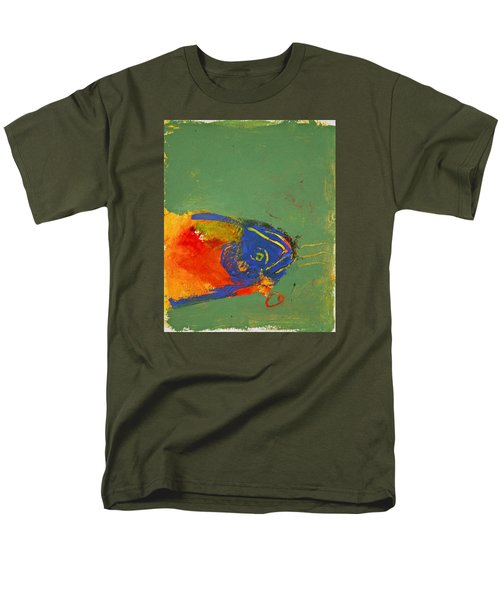 Fish Pondering The Anomaly Of Mans Anamnesis Men's T-Shirt  (Regular Fit)