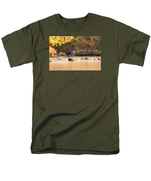 Men's T-Shirt  (Regular Fit) featuring the photograph Fishing In Fall by Sheila Brown