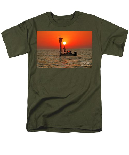 Fishing In Lacombe Louisiana Men's T-Shirt  (Regular Fit) by Luana K Perez