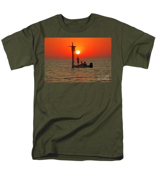 Fishing In Lacombe Louisiana Men's T-Shirt  (Regular Fit) by Luana K Perez
