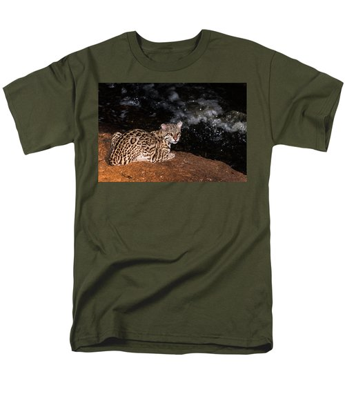 Fishing In The Stream Men's T-Shirt  (Regular Fit) by Alex Lapidus