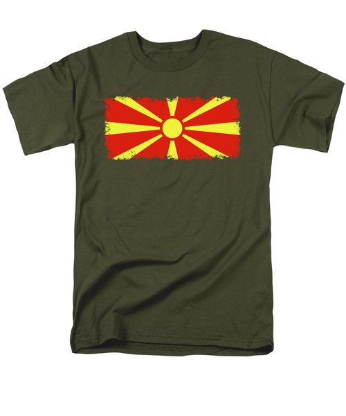 Men's T-Shirt  (Regular Fit) featuring the digital art Flag Of Macedonia by Bruce Stanfield