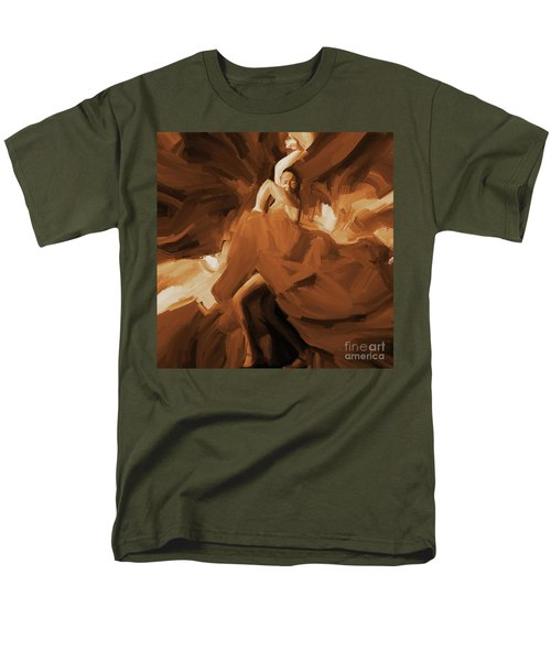 Men's T-Shirt  (Regular Fit) featuring the painting Flamenco Flamenco  by Gull G
