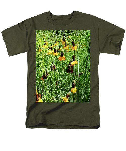Floral Men's T-Shirt  (Regular Fit) by Cynthia Powell