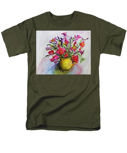 Men's T-Shirt  (Regular Fit) featuring the painting Floral Still Life 05 by Linde Townsend